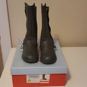 NIB Cat & Jack Toddler Size 8 Charcoal Boots